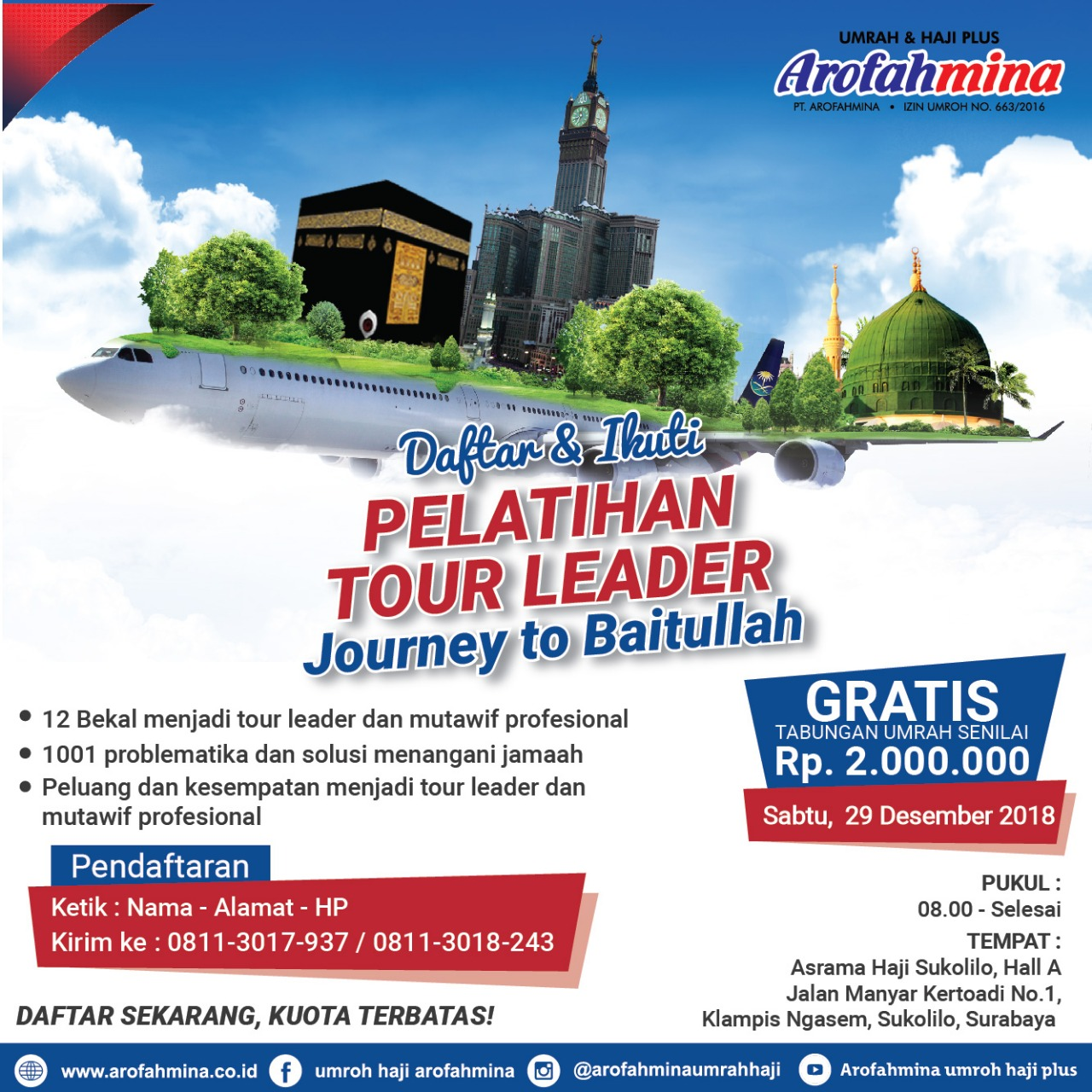 "PELATIHAN TOUR LEADER ""JOURNEY TO BAITULLAH"""